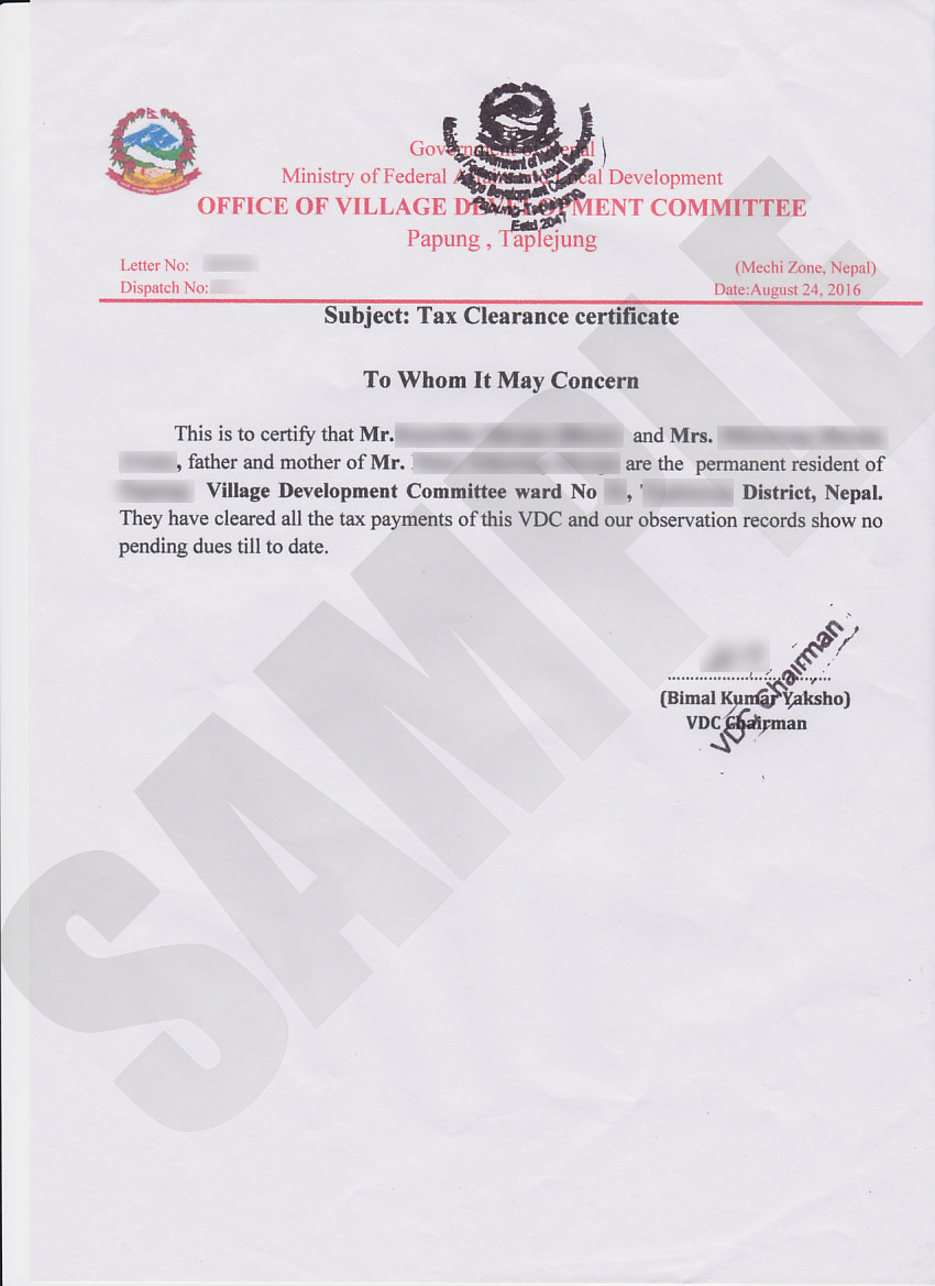 Tax clearance certificate kiec tax clearance certificate sample 3 yadclub Gallery