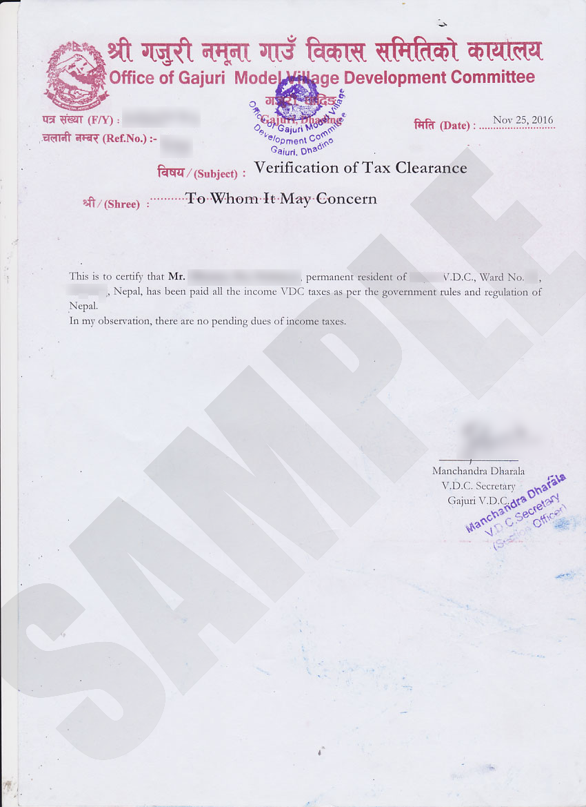 Tax Clearance Certificate Kiec