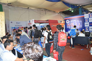 students visiting stall - ecan 2016