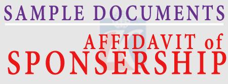 Sponsorship certificate (Affidavit of Support) | KIEC