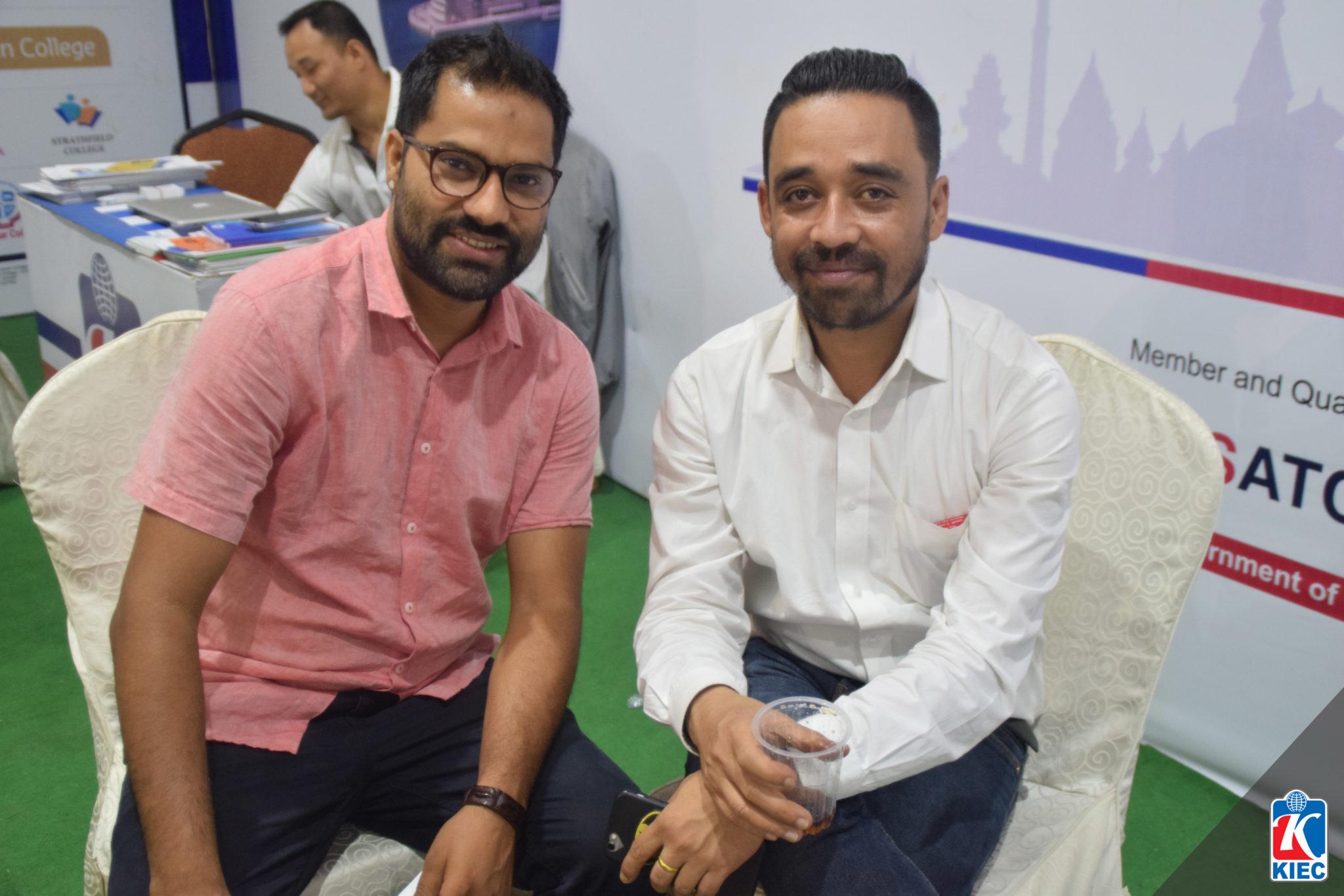 KIEC MD Rajendra Rijal with Sanjeev Thapa