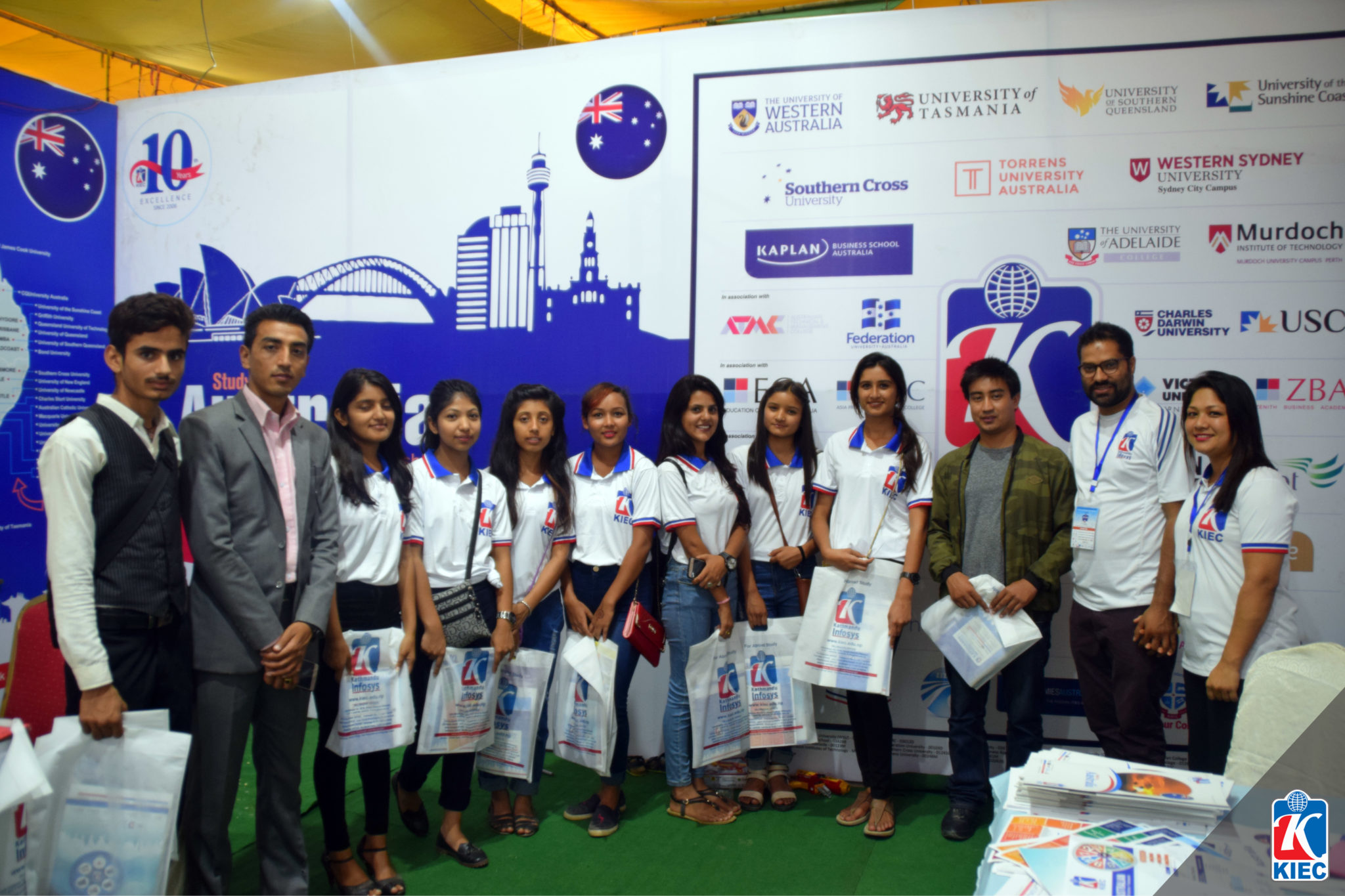 Students with KIEC MD and Chair Person Namita Shrestha