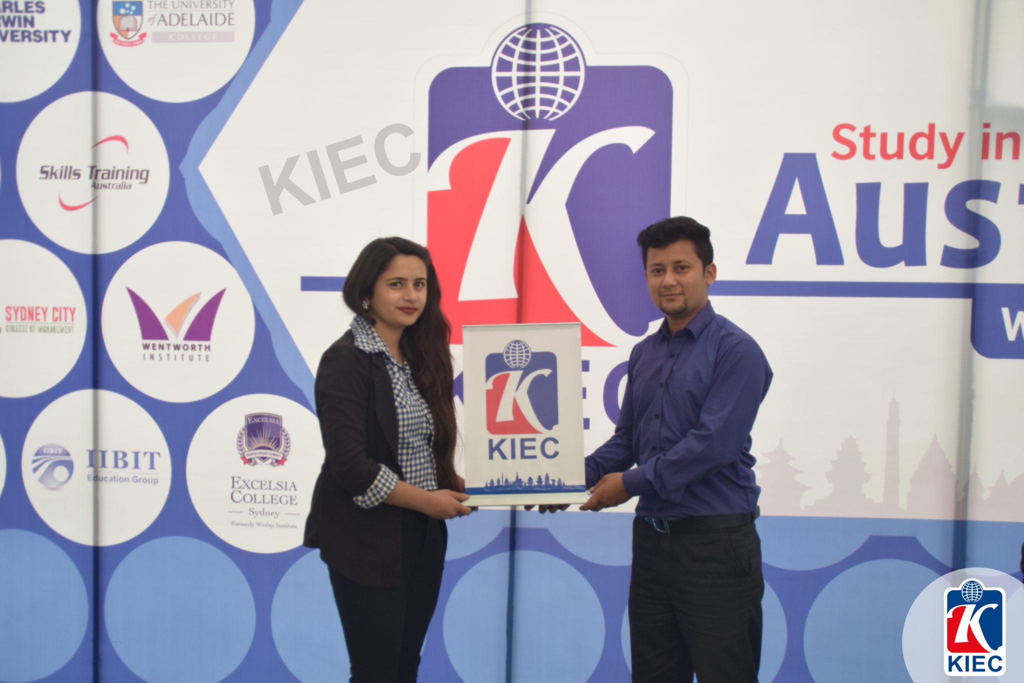KIEC Pokhara counselor Bina Gautam and Sachin Ranabhat