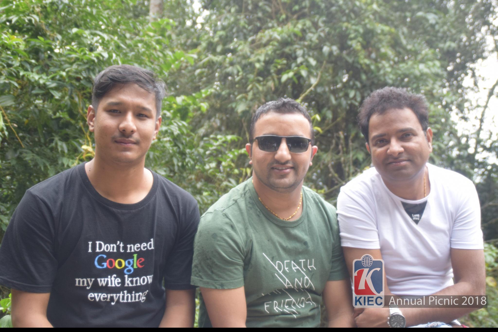 Shyam Dahal with Pramod Soni and Sumeet Shrestha