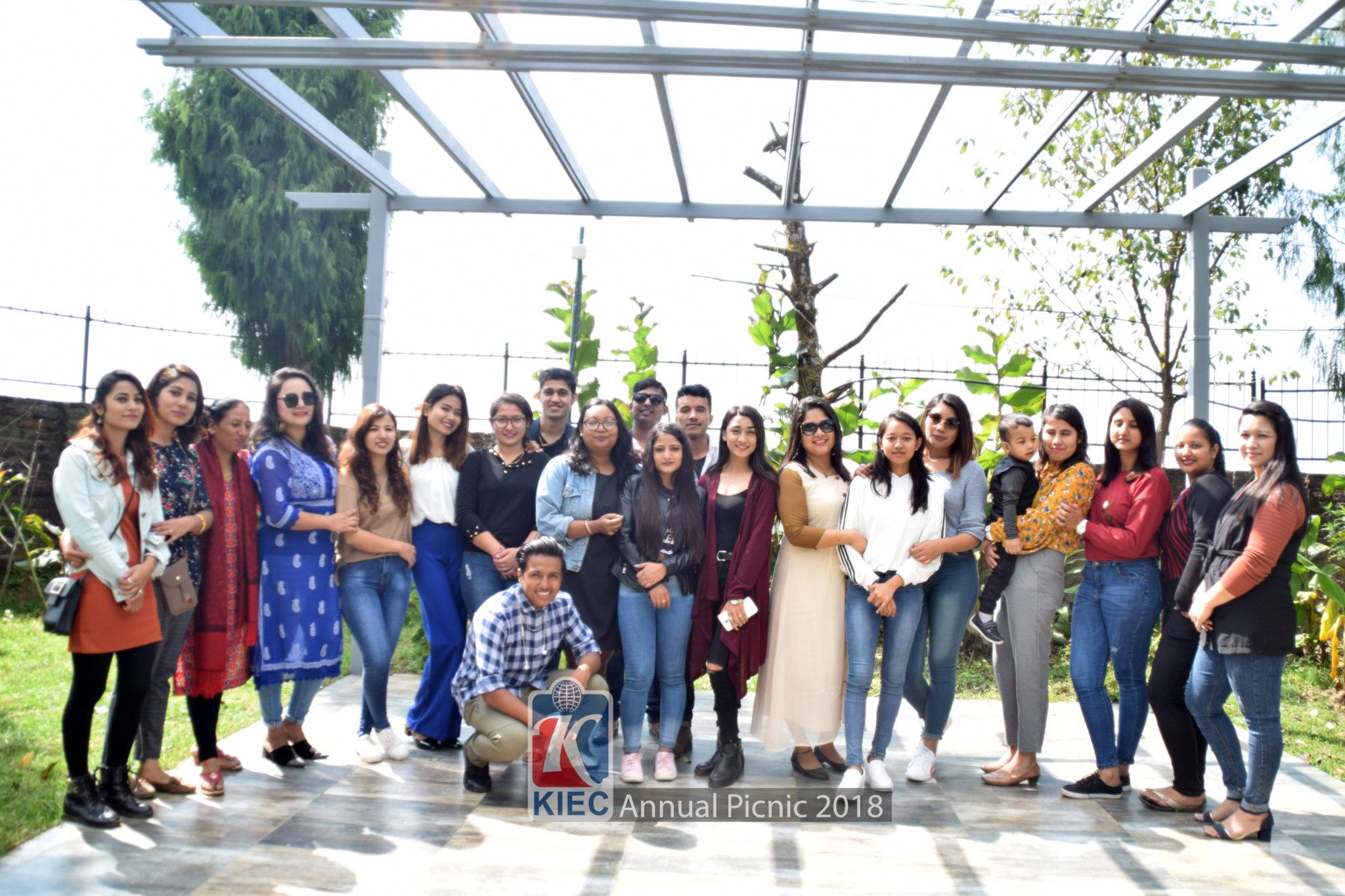 KIEC Conselor Shyam Dahal counseling students