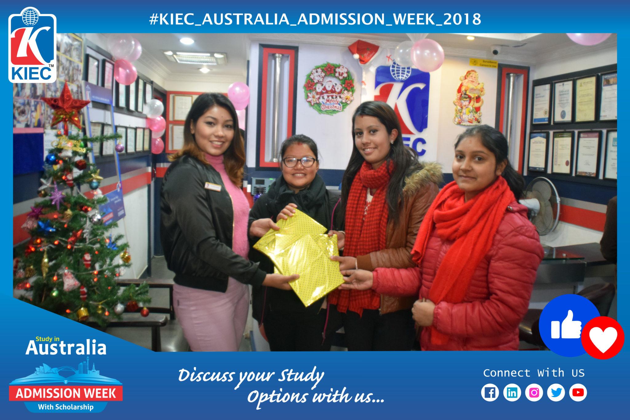 KIEC Counsellor Shyam Dahal with Visitors