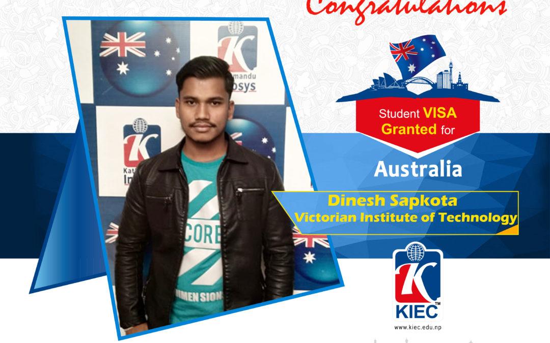 Dinesh Sapkota | Australia Visa Granted