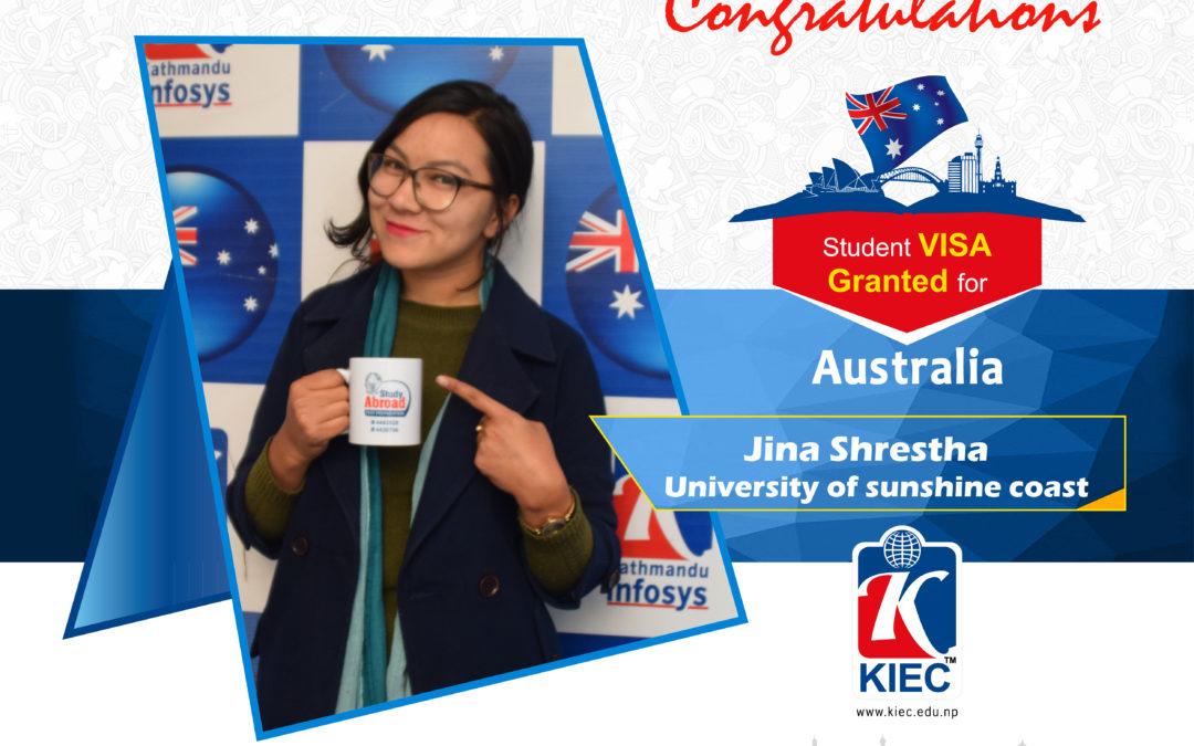 Jina Shrestha | Australian Visa Granted