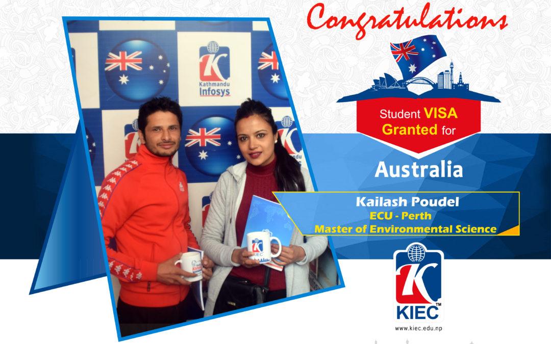 Kailash Poudel | Australian study Visa Granted