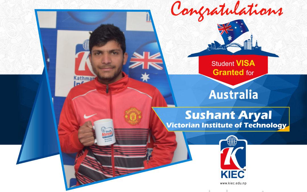 Sushant Aryal | Australia Visa Granted