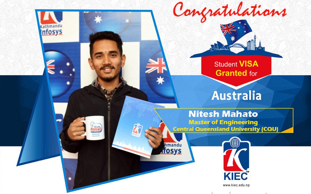 Nitesh Mahato | Australian Study Visa Granted