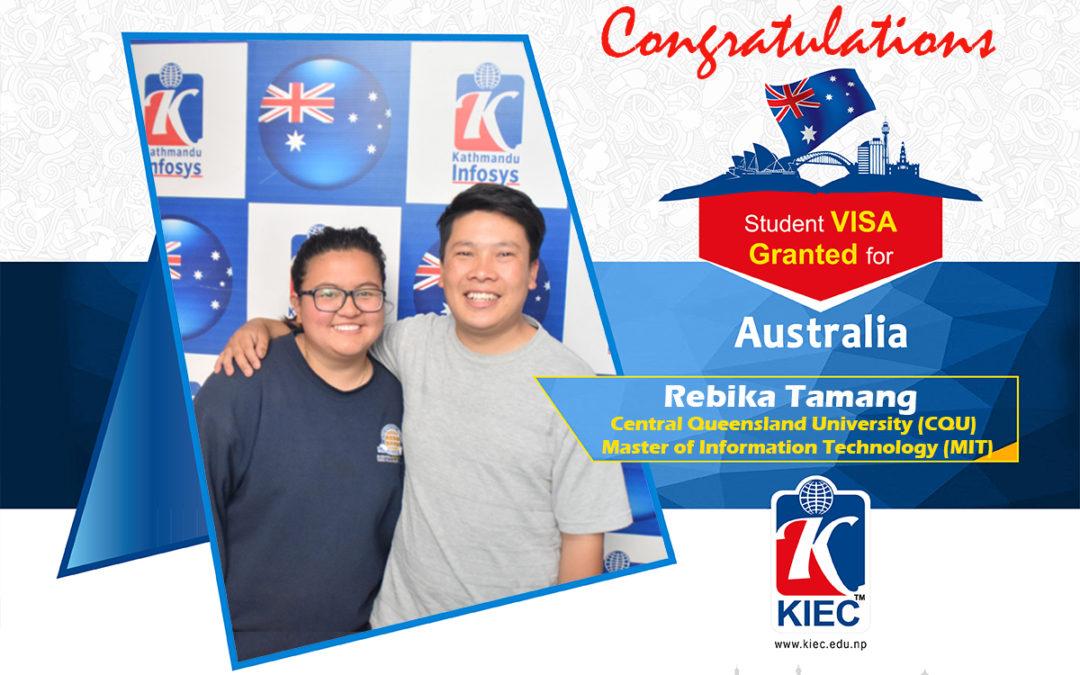 Rebika Tamang   Australia Study Visa Granted