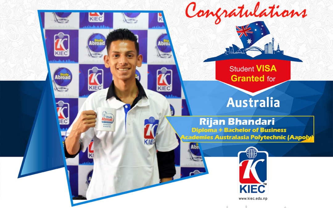 Rijan Bhandari   Australian Study Visa Granted
