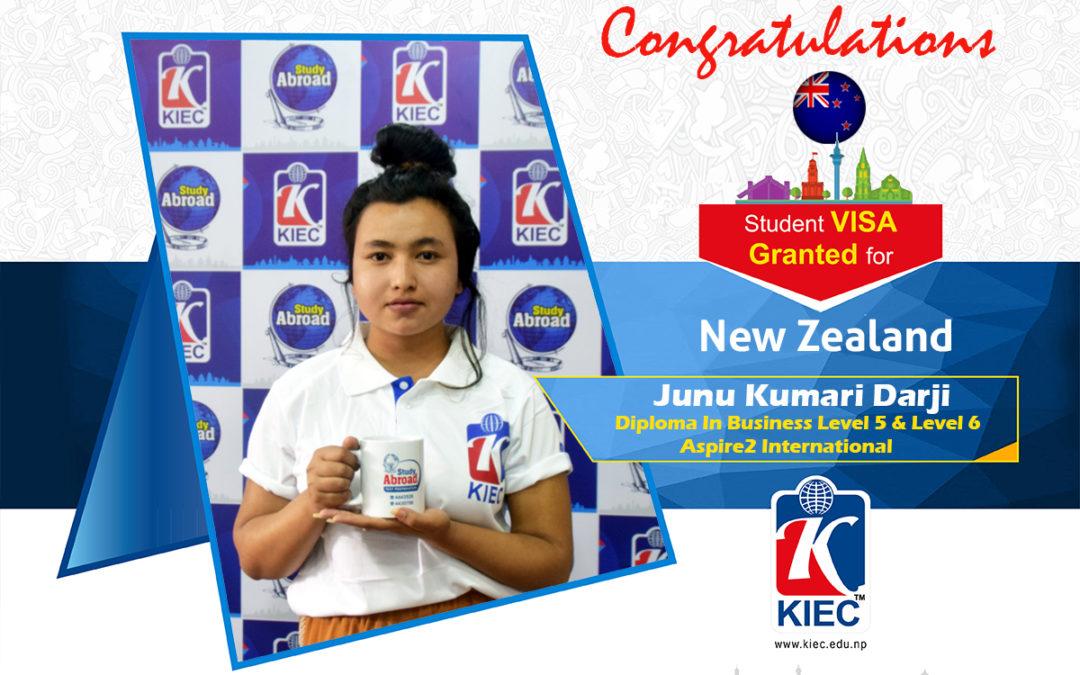 Junu Kumari Darji | New Zealand Study Visa Granted