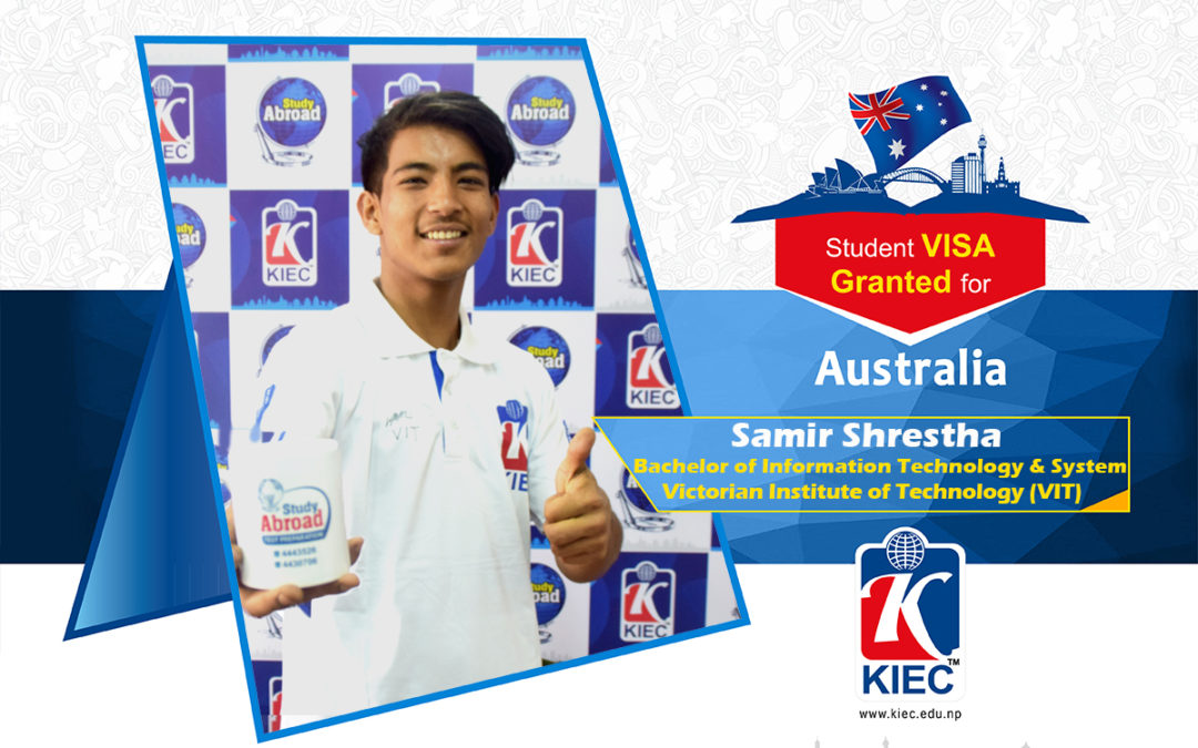 Samir Shrestha | Australia Study Visa Granted