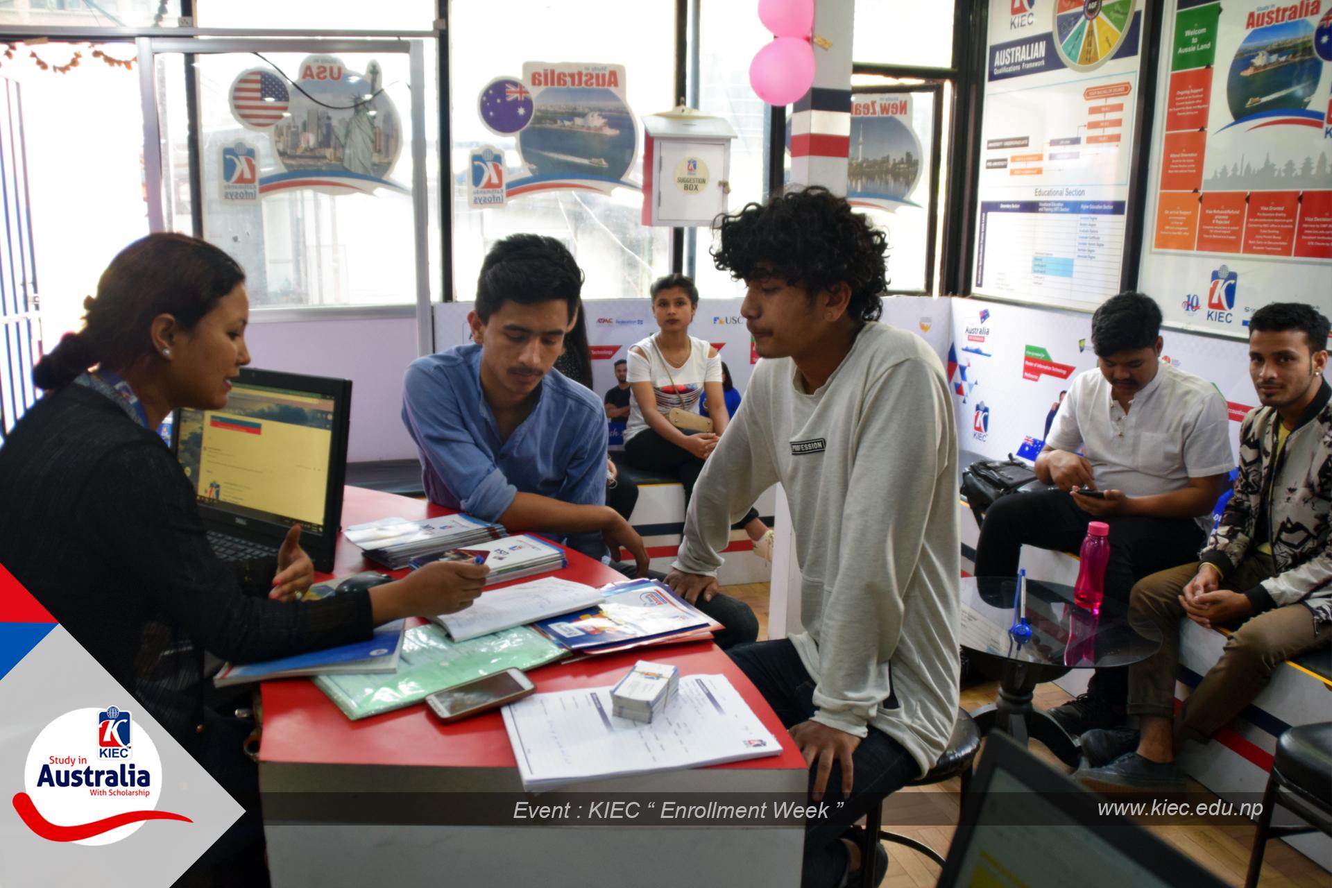 KIEC Counsellor Shyam Dahal Pose