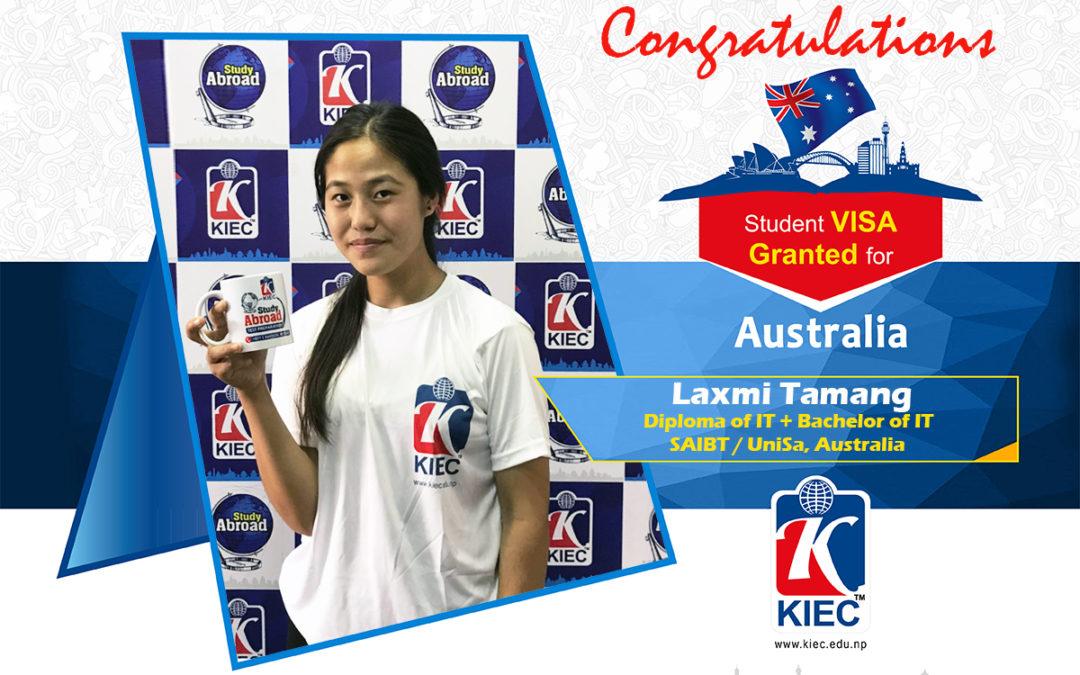 Laxmi Tamang | Australia Study Visa Granted