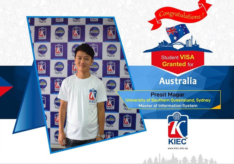 Presit Magar   Australian Study Visa Granted