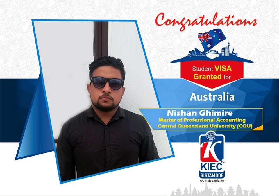 Nishan Ghimire | Australian Study Visa Granted