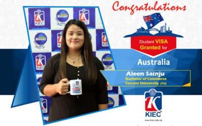 Aleen Sainju | Australian Study Visa Granted