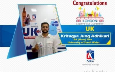 Kritagya Jung Adhikari   U.K. Study Visa Granted