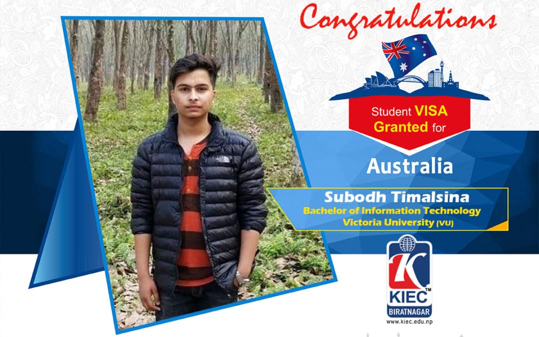 Subosh Timsina | Australia Study Visa Granted