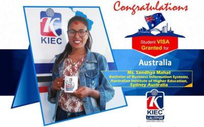 Sandhya Mahat   Australia Study Visa Granted