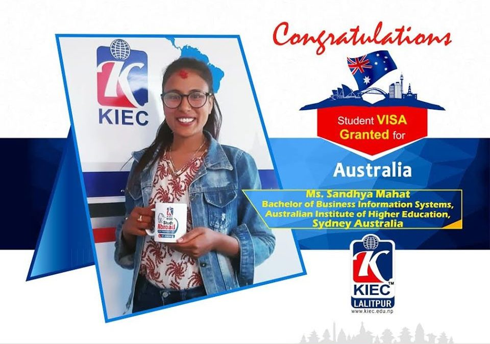 Sandhya Mahat | Australia Study Visa Granted