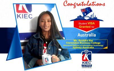 Reshika Rai   Australian Study Visa Granted