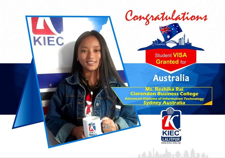 Reshika Rai | Australian Study Visa Granted