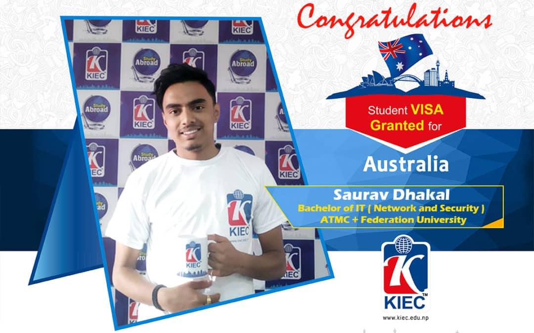 Saurav Dhakal | Australia Study Visa Granted