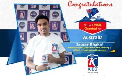 Saurav Dhakal   Australia Study Visa Granted