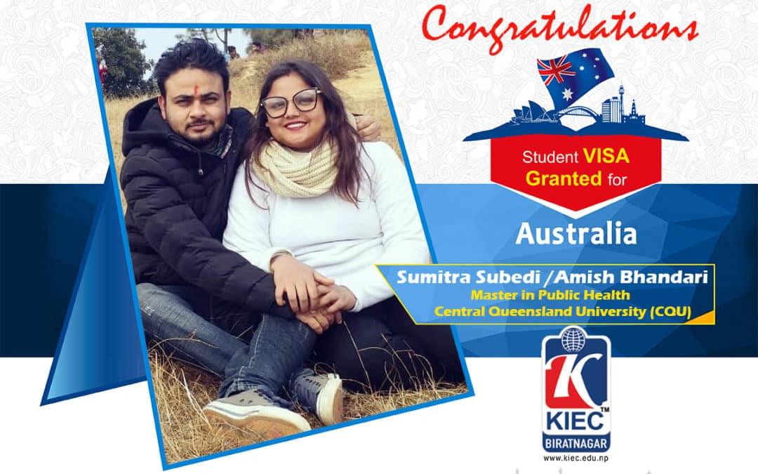 Sumitra Subedi | Australian Study Visa Granted