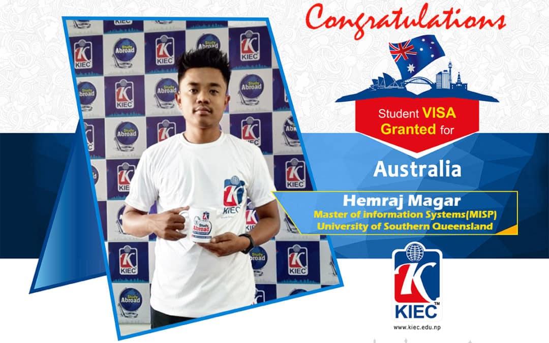 Hemraj Magar | Australian Study Visa Granted