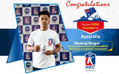 Hemraj Magar   Australian Study Visa Granted