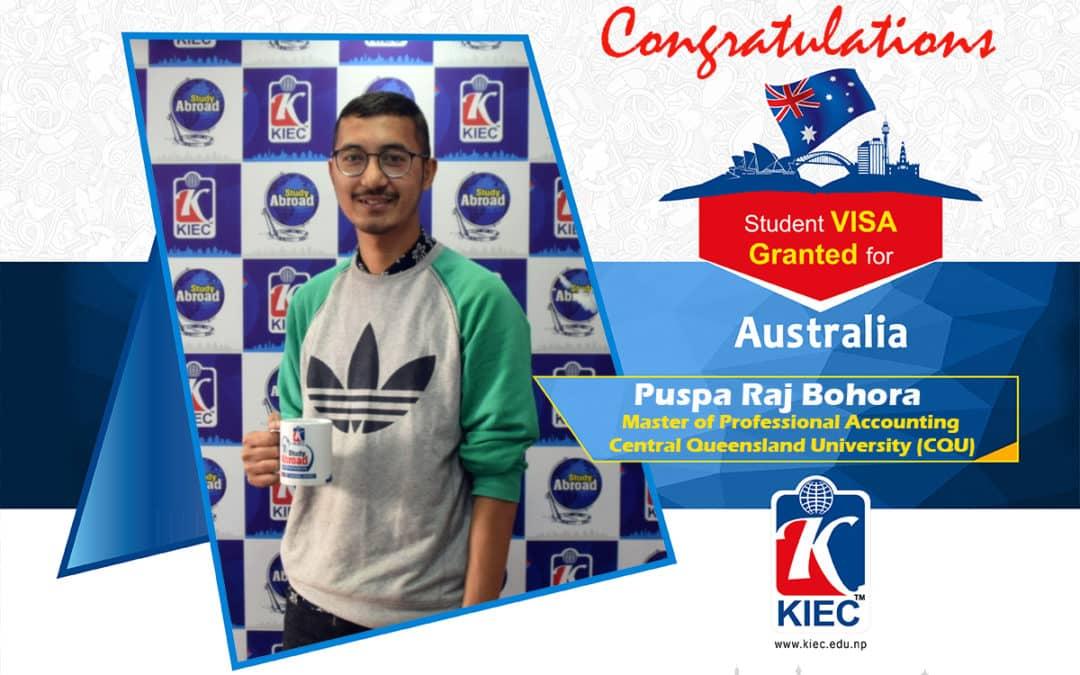 Puspa Raj Bohora | Australia Study Visa Granted