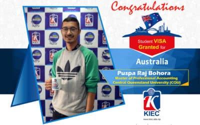 Puspa Raj Bohora   Australia Study Visa Granted