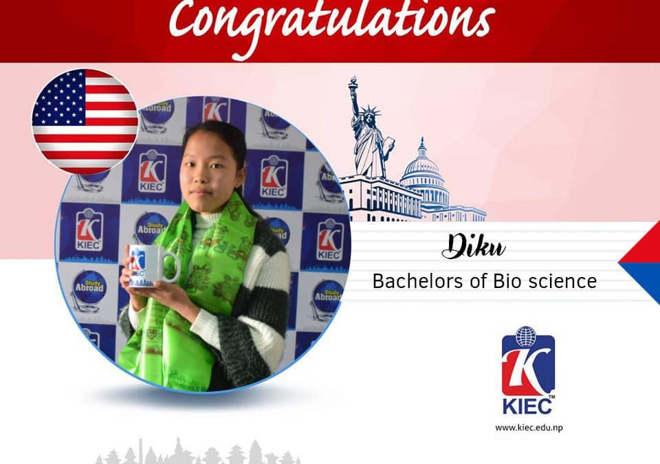 Diku   USA Study Visa Granted