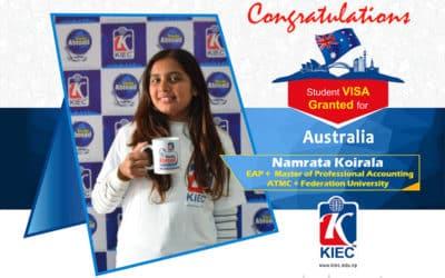Namrata Koirala | Australian Study Visa Granted
