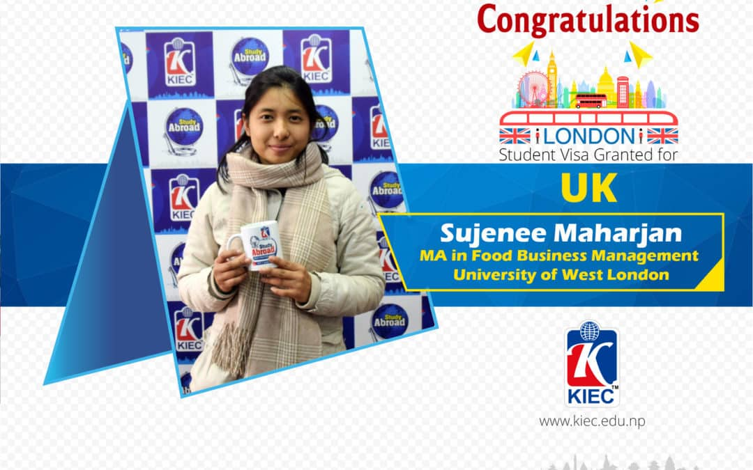 Sujenee Maharjan   UK Study Visa Granted
