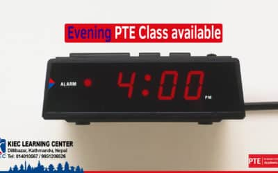 Looking for PTE class in the evening???