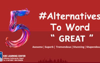 "#Alternatives to word "" Great """
