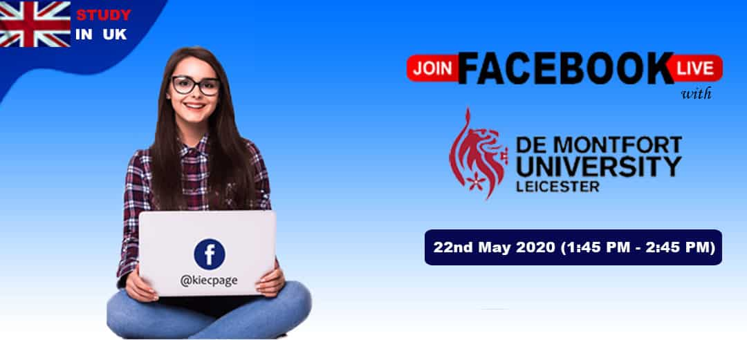 Join FB Live Session With De Montfort University, UK