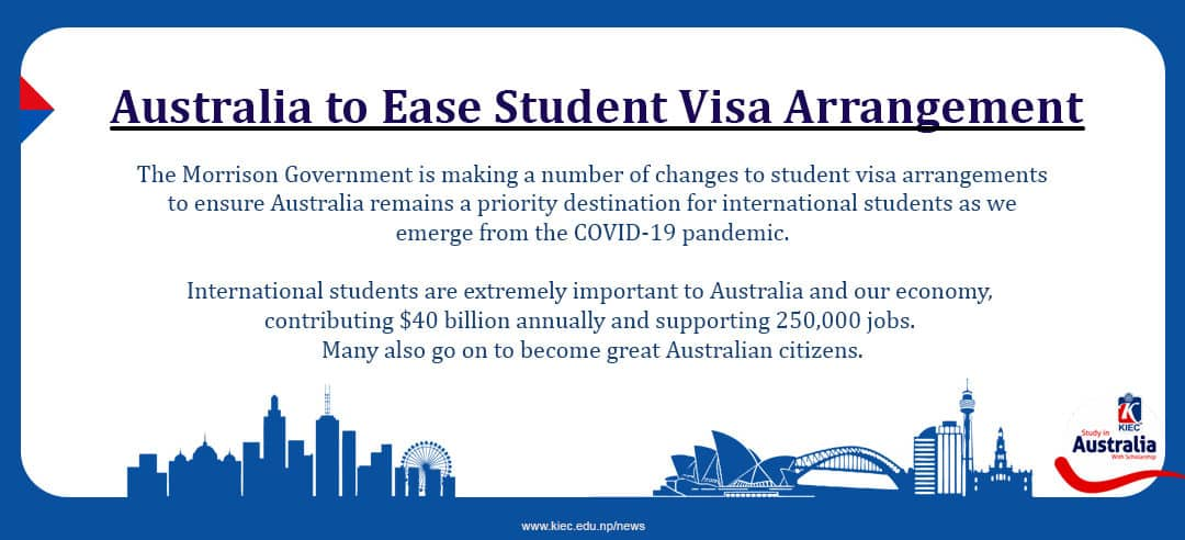 Australia to Ease Student Visa Arrangement