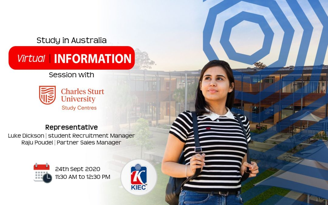 Join Virtual Information session with Charles Sturt University