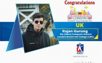 Rajan Gurung | UK Study Visa Granted