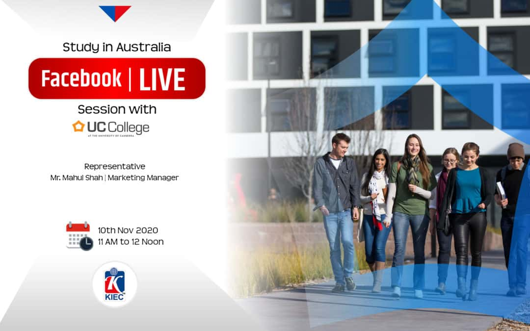 Join Facebook live session with University of Canberra College