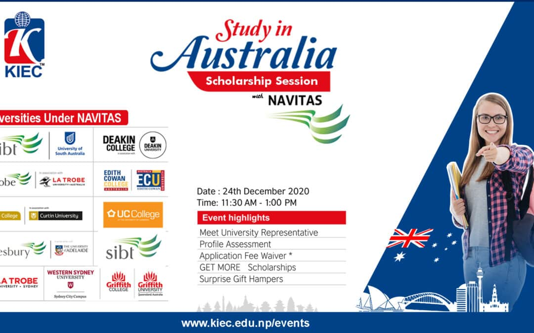 Study in Australia Scholarship Session with NAVITAS