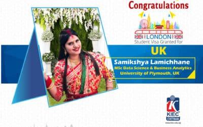 Samikshya Bhattarai | UK Study Visa Granted
