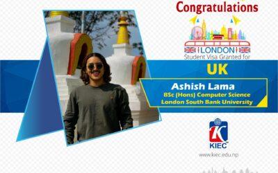 Ashish Lama | UK Study Visa Granted
